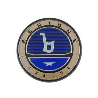 Bertone badge Fiat X1/9 front and rear