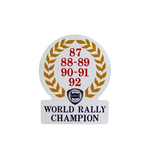 Sticker world rally champion 87-92