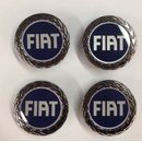 Wheel center cap set barchetta FIAT blue silver